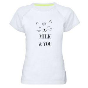 Damska koszulka sportowa Milk and you