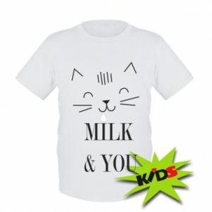 Dziecięcy T-shirt Milk and you
