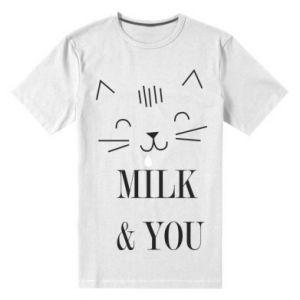 Męska premium koszulka Milk and you