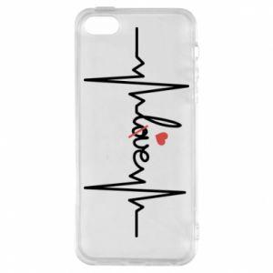 Etui na iPhone 5/5S/SE Miłość i serce - PrintSalon