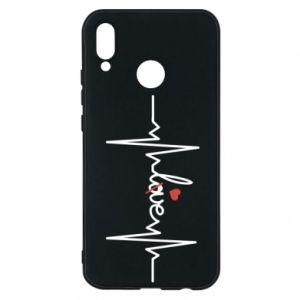 Etui na Huawei P20 Lite Miłość i serce - PrintSalon
