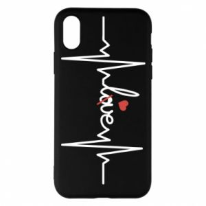 Etui na iPhone X/Xs Miłość i serce