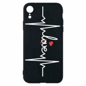Etui na iPhone XR Miłość i serce - PrintSalon