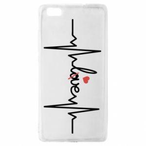 Etui na Huawei P 8 Lite Miłość i serce