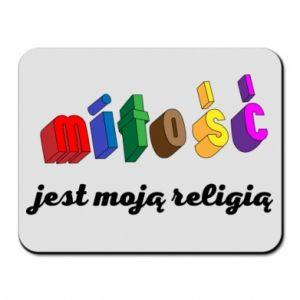 Podkładka pod mysz Miłość jest moją religią