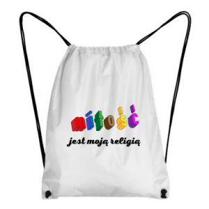Plecak-worek Miłość jest moją religią