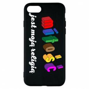 Etui na iPhone 7 Miłość jest moją religią