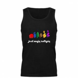 Męska koszulka Miłość jest moją religią