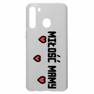 Etui na Samsung A21 Miłość mamy