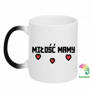 Chameleon mugs Mom's love