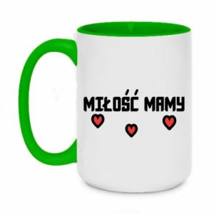 Two-toned mug 450ml Mom's love