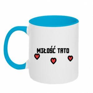 Two-toned mug Dad's love