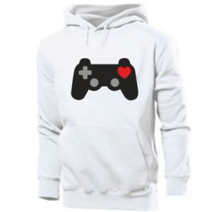 Men's hoodie Love is a game