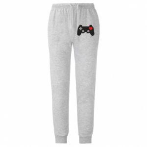 Męskie spodnie lekkie Miłość to gra