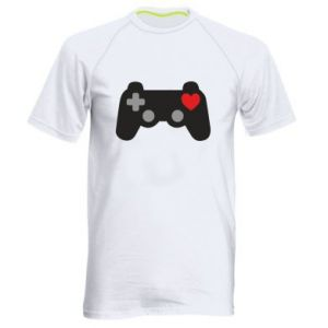 Men's sports t-shirt Love is a game