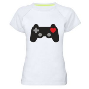 Women's sports t-shirt Love is a game