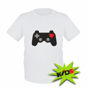 Kids T-shirt Love is a game