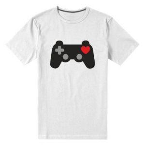 Koszulka premium męska Miłość to gra