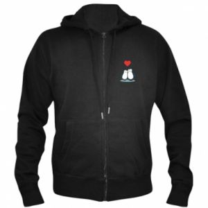 Men's zip up hoodie Lovers - PrintSalon