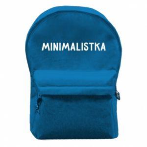 Backpack with front pocket Minimalist - PrintSalon
