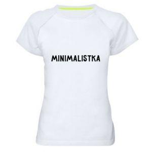 Women's sports t-shirt Minimalist - PrintSalon