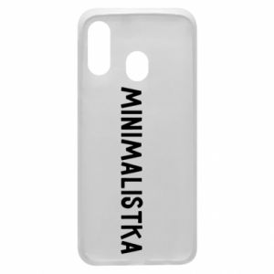 Phone case for Samsung A40 Minimalist - PrintSalon