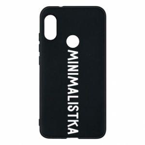 Phone case for Mi A2 Lite Minimalist - PrintSalon