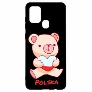 Etui na Samsung A21s Miś Polska