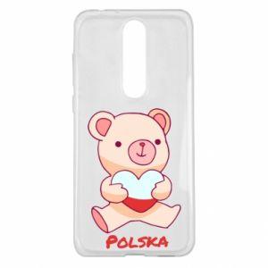 Etui na Nokia 5.1 Plus Miś Polska