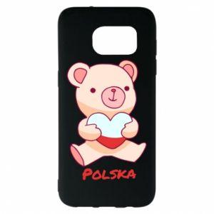 Etui na Samsung S7 EDGE Miś Polska