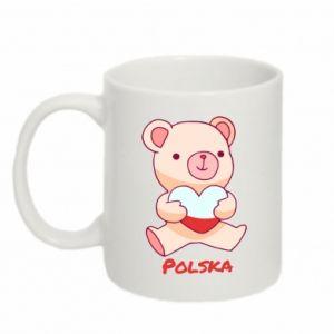 Kubek 330ml Miś Polska