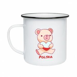 Kubek emaliowany Miś Polska