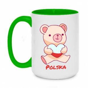 Kubek dwukolorowy 450ml Miś Polska