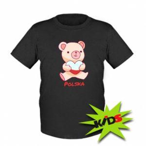 Koszulka dziecięca Miś Polska