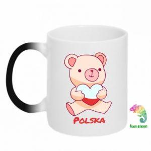 Kubek-magiczny Miś Polska
