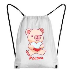Plecak-worek Miś Polska