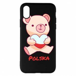 Etui na iPhone X/Xs Miś Polska