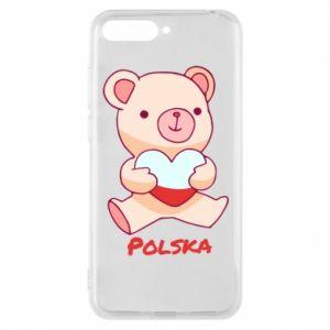 Etui na Huawei Y6 2018 Miś Polska