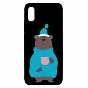 Xiaomi Redmi 9a Case Teddy bear in pajamas