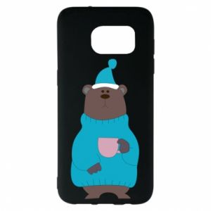 Samsung S7 EDGE Case Teddy bear in pajamas