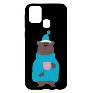 Samsung M31 Case Teddy bear in pajamas