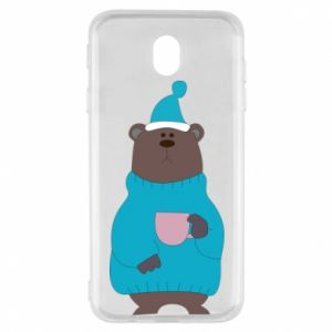 Samsung J7 2017 Case Teddy bear in pajamas