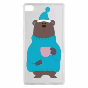 Huawei P8 Case Teddy bear in pajamas