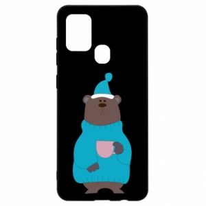 Samsung A21s Case Teddy bear in pajamas