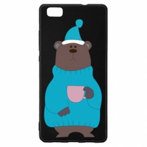 Huawei P8 Lite Case Teddy bear in pajamas
