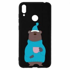 Huawei Y7 2019 Case Teddy bear in pajamas