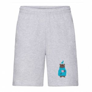 Men's shorts Teddy bear in pajamas