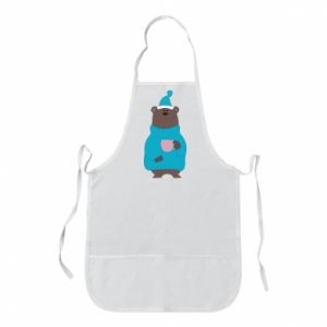 Apron Teddy bear in pajamas