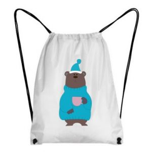 Backpack-bag Teddy bear in pajamas