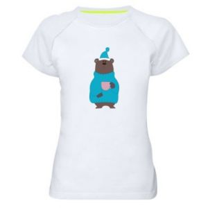 Women's sports t-shirt Teddy bear in pajamas